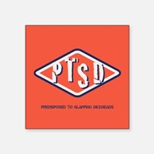 "PTSD Emblem Square Sticker 3"" x 3"""