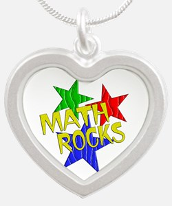 Math Rocks Silver Heart Necklace