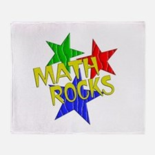 Math Rocks Throw Blanket