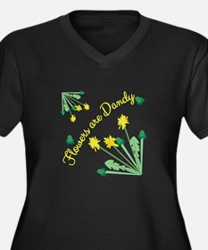 Flowers Are DAndy Plus Size T-Shirt