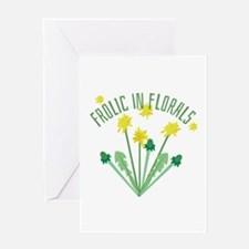 Frolic In Florals Greeting Cards