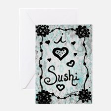 I Heart Sushi Greeting Cards