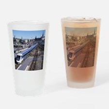 Cute Transportation Drinking Glass