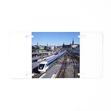 Train Aluminum License Plate