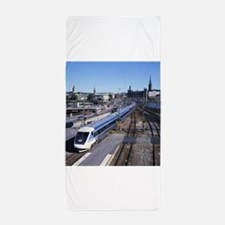 Train Beach Towel