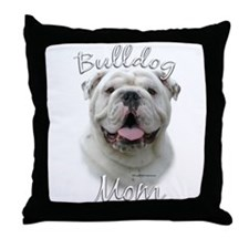 Bulldog Mom2 Throw Pillow