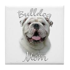 Bulldog Mom2 Tile Coaster
