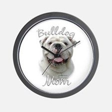 Bulldog Mom2 Wall Clock