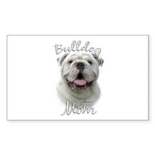 Bulldog Mom2 Rectangle Decal