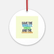 Oxford Comma Round Ornament