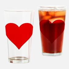 heart shape love valentines Drinking Glass