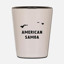 American Samoa Silhouette Shot Glass