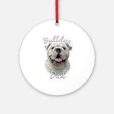 Bulldog Dad2 Ornament (Round)