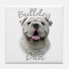 Bulldog Dad2 Tile Coaster