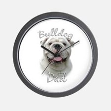 Bulldog Dad2 Wall Clock