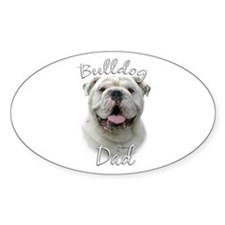 Bulldog Dad2 Oval Decal