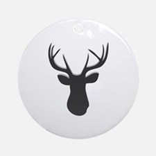 Deer Head Round Ornament