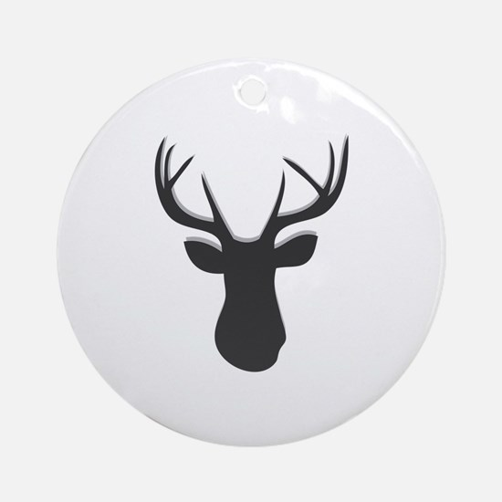Deer Head Round Ornament