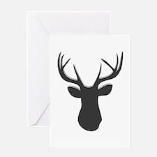 Deer Head Greeting Cards