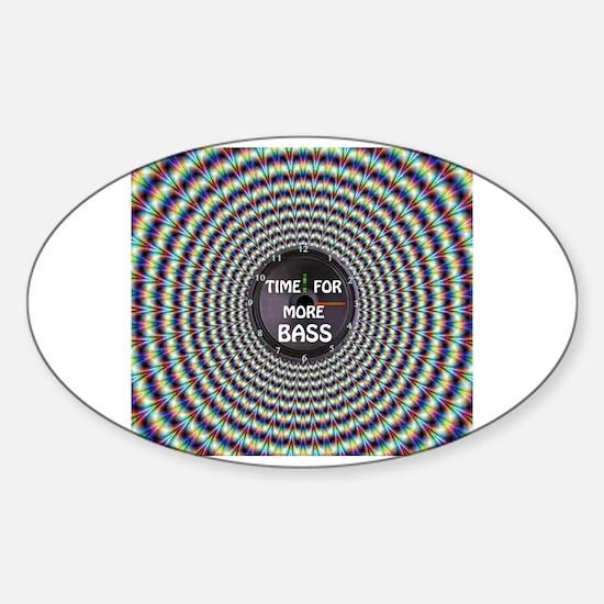 Cute Beat hip hop mypace head speaker hip hop rap Sticker (Oval)