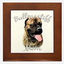 Bullmastiff Mom2 Framed Tile