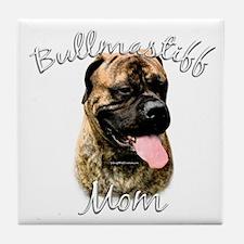 Bullmastiff Mom2 Tile Coaster
