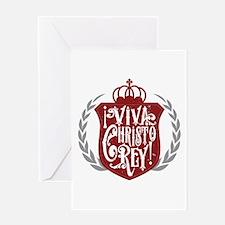 Viva Cristo Rey Shield Greeting Cards
