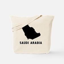 Saudi Arabia Silhouette Tote Bag