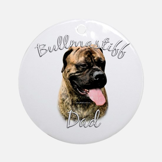 Bullmastiff Dad2 Ornament (Round)