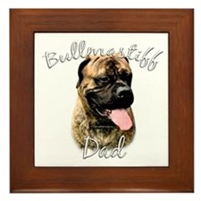 Bullmastiff Dad2 Framed Tile