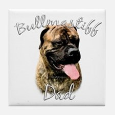 Bullmastiff Dad2 Tile Coaster