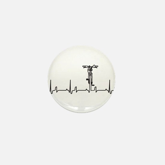 Bike Heartbeat Mini Button