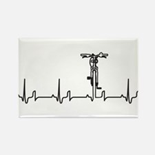 Bike Heartbeat Rectangle Magnet (10 pack)