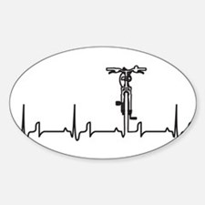 Bike Heartbeat Sticker (Oval)