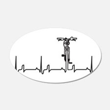 Bike Heartbeat Wall Decal