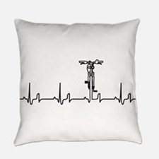 Bike Heartbeat Everyday Pillow