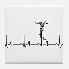 Bike Heartbeat Tile Coaster