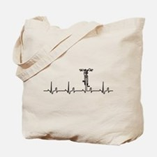 Bike Heartbeat Tote Bag