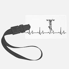 Bike Heartbeat Luggage Tag