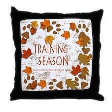 Dogsledding Season Throw Pillow
