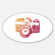 Cute Hearts camera Decal