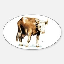 Cow Cattle Oval Decal