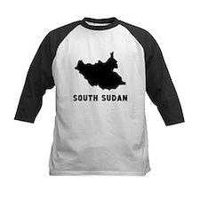 South Sudan Silhouette Baseball Jersey