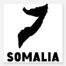 "Somalia Silhouette Square Car Magnet 3"" x 3"""