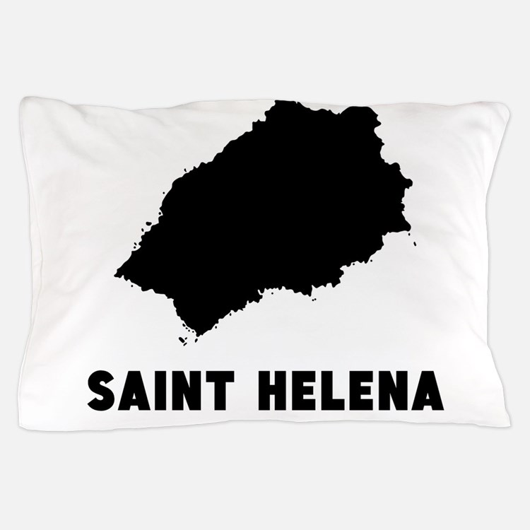 Saint Helena Silhouette Pillow Case
