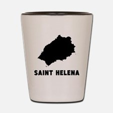 Saint Helena Silhouette Shot Glass