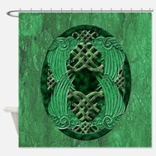 Celtic Crows Shower Curtain