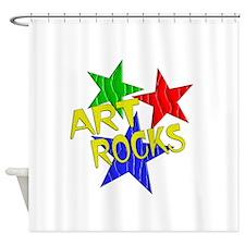 Art Rocks Shower Curtain