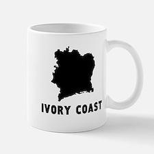 Ivory Coast Silhouette Mugs