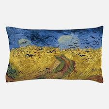 Vincent van Gogh - Wheatfield with Cro Pillow Case